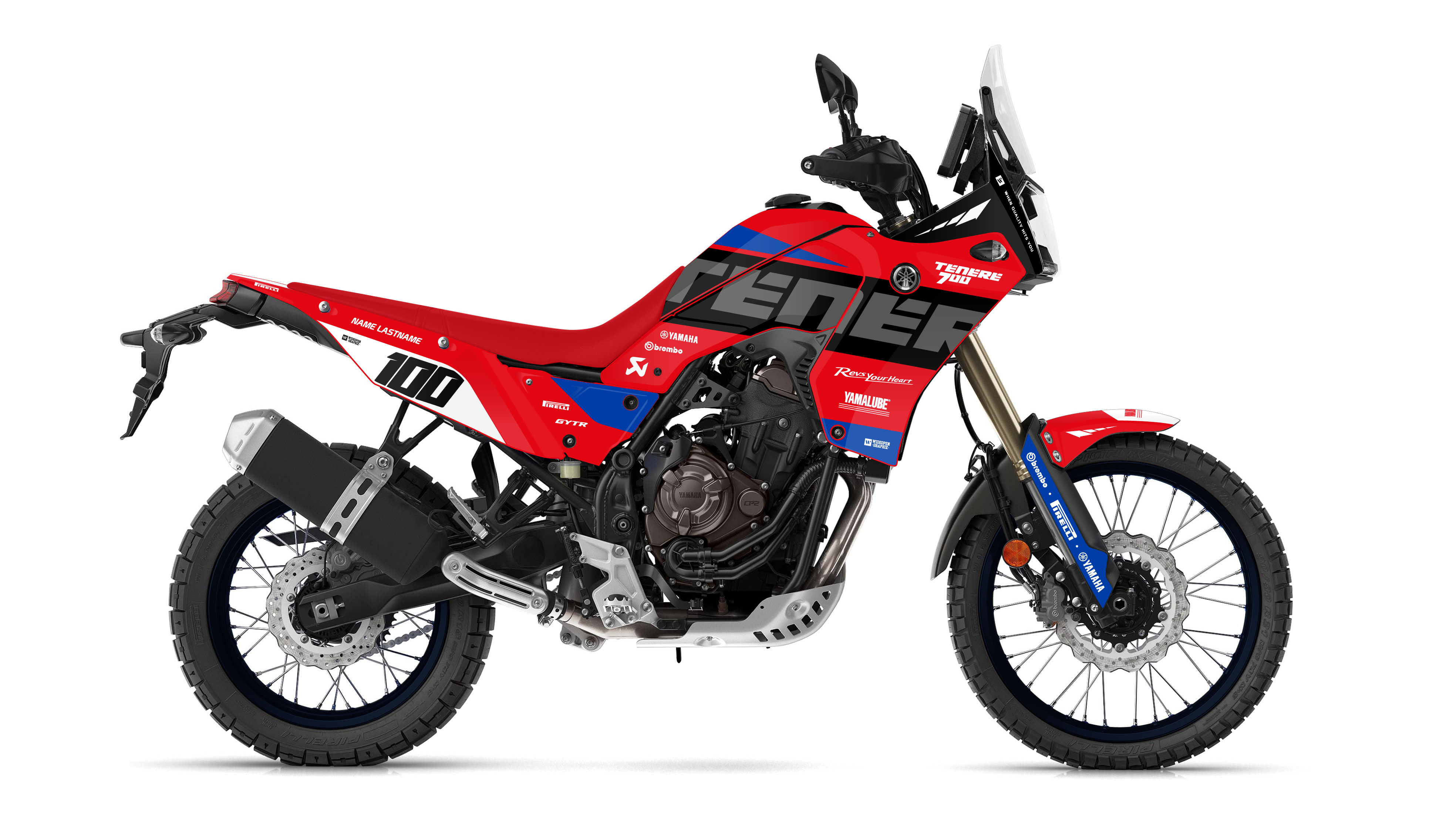 Yamaha Tenere Factory Red-Blue