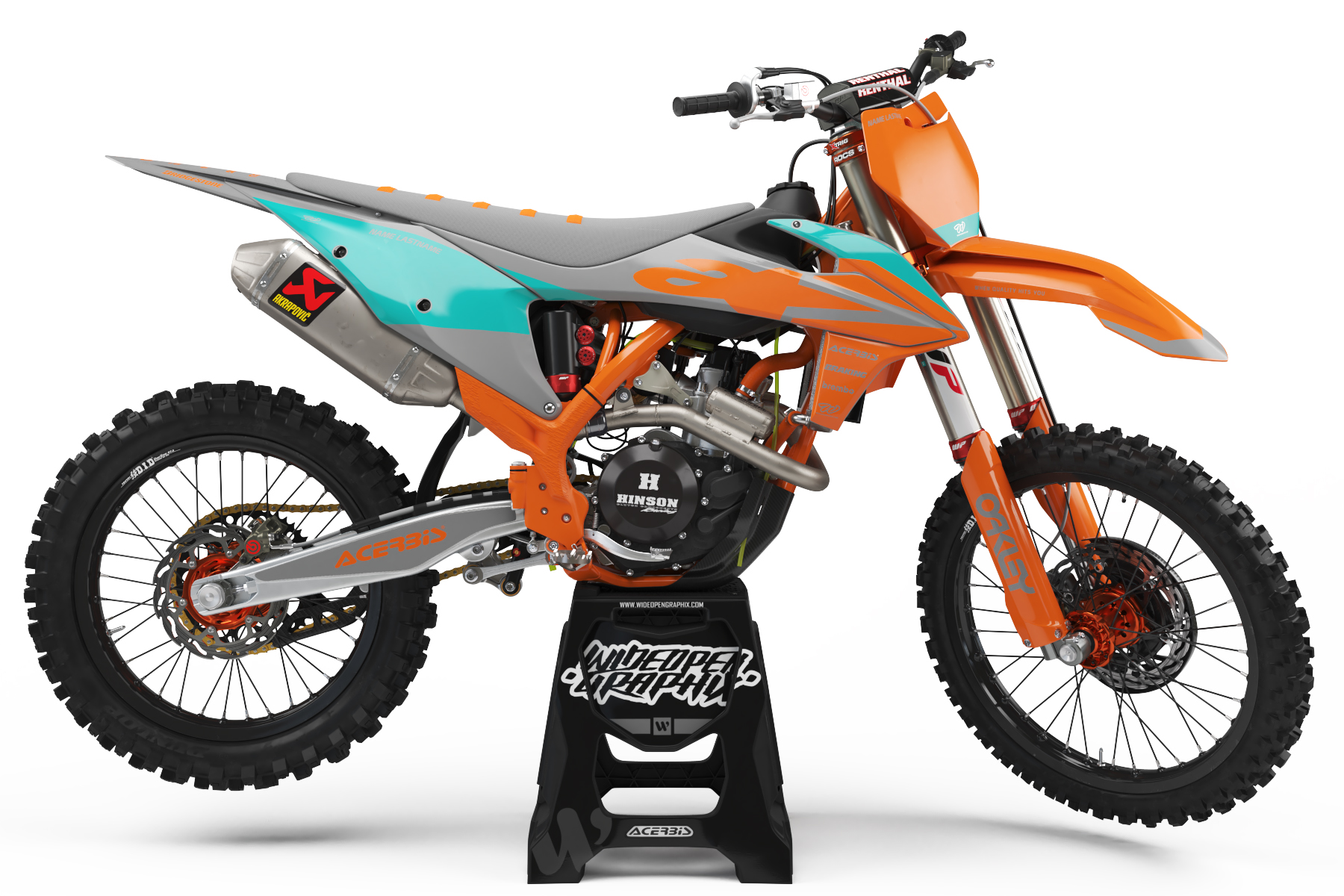 KTM NUMB ORANGE GRAY